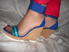 Jimmy Choo NESTON mixed media wedge sandal size 41 $550 NEW