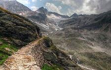 Incorniciato stampa-compresi passo di montagna (foto poster arte Walking Arrampicata SCENIC)