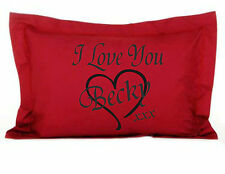 Personalised I Love You Red Oxford Pillow Case Gift for Your Loved One Valentin