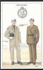 Military Postcard - Army Air Corps - Corporal: Flying Dress & Major  1181