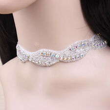 Luxury Bridal Diamante Shiny Wedding Decoration Collar Choker Necklace N372