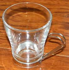 Replacement Vitrosax Glass Espresso / Cappuccino Cup Steel Handle Made In Italy!