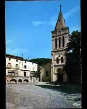 VANOSC (07) CAFE-BUREAU DE TABAC & EGLISE animée en 1987