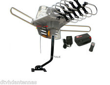 HDTV Digital Rotating Amplified Outdoor TV Antenna + J Mounting Mast Pole Bundle