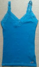 HOLLISTER NWOT TEAL BLUE LACE SPAGHETTI STRAP TANK TOP SZ M