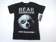 SOCIAL REPUBLIC BLACK MEDIUM PANDA BEAR FUNNY ART TSHIRT MENS NWT NEW