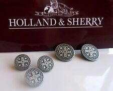 Antique Silver CELTIC CROSS Holland & Sherry  Blazer Buttons Best Gift for Him