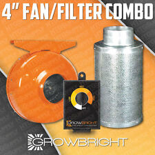"4"" CARBON FILTER + FAN + SPEED CONTROLLER COMBO! ODOR SCRUBBER inline hydroponic"