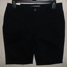 "NWT WOMENS KHAKIS by GAP TRUE BLACK ""The CITY 9 INCH BERMUDA"" SHORTS   SIZE 0"