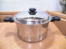 SALADMASTER 10 QT QUART 316Ti TITANIUM STAINLESS STOCK POT & LID USA