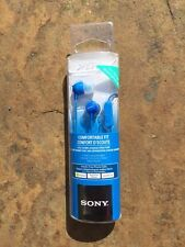 Sony MDR-EX15AP In-ear Headphones with Mic in Blue for Android or Iphone