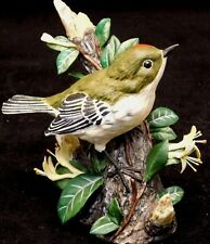 Franklin Mint Porcelain Bird:1986 Signed by Basil Ede -Ruby Crowned Kinglet