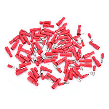 100pcs Red Insulated Female&Male Bullet Butt Connector Wire Crimp Terminals New