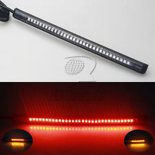 "Universal Motorcycle Light Strip Tail Brake Stop Turn Signal 32 LED 8"" Flexible"