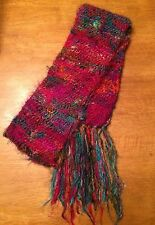 Lakhay's Collection Women's 100% Silk Fashion Scarf Made in Nepal Multi-Color