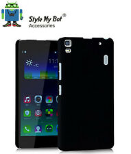 Hard Back Rubber Coated Plastic Back Cover Case For Lenovo A7000/K3 Note - Black