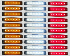 30Pcs 6LED 12V Clearence BOAT BUS Truck Trailer Side Marker Indicators Light