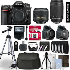 Nikon D7200 SLR Camera 4 Lens Kit 18-55 + 70-300mm + 64GB Multi Accessory Bundle