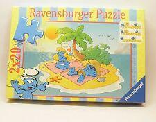 Schlumpf - Spiel Puzzle 2x20 :  DIE SCHLÜMPFE IN DEN FERIEN Ravensburger 089659