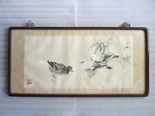 Gorgeous Rare Antique 1800's Chinese Polychrome Painting Signed ORIGINAL!