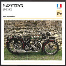 1930 Magnat-Debon 350cc Boss C2 BOSSC2 Motorcycle Photo Spec Sheet Info Card
