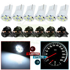 6 T10 White PC194 LED Bulb Instrument Panel Cluster Dash Light Twist Lock Socket