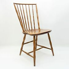 Vtg Nichols & Stone Windsor Wooden Bamboo Style Wood Side Spindle Back Chair