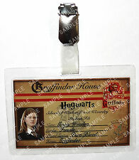 Ginny Weasley ID Badge Harry Potter Hogwarts Student Cosplay Prop Halloween