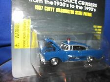 1957 chevy belair washington state  highway patrol  racing champions 1:64 police