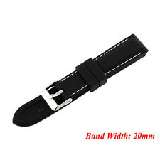 Fashion Men Silicone Rubber Waterproof Sport Wrist Watch Band Strap 20mm-24mm