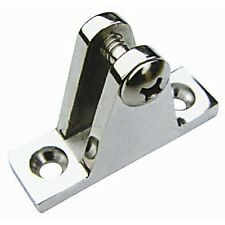 Stainless Steel Bimini Top Fitting Deck Hinge With Screw