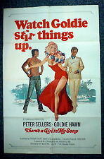 THERE'S A GIRL IN MY SOUP Original 1970s OS Movie Poster Sexy Goldie Hawn
