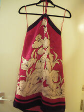 BNWT Beautiful Oasis chinese style tie-up silk dress size 8
