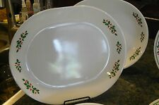 Corning Corelle Winter Holly Christmas Large Dinner Platter 12 1/4 inches Nice !