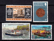GUERNSEY of BAILIWICK ☀ 4 used stamps