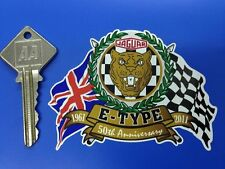 JAG E type 50th Anniversary Flags & Scroll Sticker