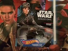 HOT WHEELS 2017 STAR WARS ROGUE ONE Jyn Erso Character Car DIECAST NIP VHTF