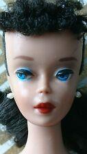 vintage brunette barbie #4 number 4 with solid body 1960