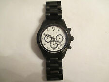MENS Michael Kors MK-6083 Stainless Steel Watch with Date Function New Battery