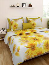 Homefab India Luxury Printed Double Bed Sheet with 2 Pillow covers(Dream101)