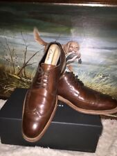 Loake Rankin Brown Derby Brogue Shoe Size 9.5 F UK ,Made In England.