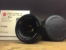 LEICA R LEITZ VARIO-ELMAR-R 35-70MM F/3.5 CAPS / CASE / BOX 3CAM Leicaflex