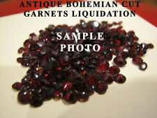 ANTIQUE BOHEMIAN ROSE CUT LOOSE GARNETS ART DECO ART NOUVO REPLACEMENTS CLOSEOUT