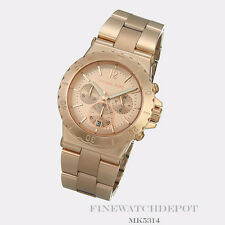Authentic Stainless Steel Women's Dylan Rose Gold-Tone Michael Kors Watch MK5314