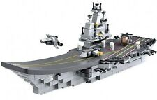 Aircraft Carrier Navy Battle Ship 9 in 1 kit Compatible Building Bricks 1001pcs