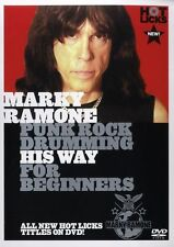 Hot Licks Marky Ramone Punk Rock Drums For Beginners Learn to Play Music DVD