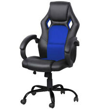 Bucket Seat Gaming Chair Swivel Executive PC Office Desk Task High Back With Arm