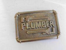 BELT BUCKLE PLUMBER VINTAGE 1978 BARON MAKER SOLID BRASS