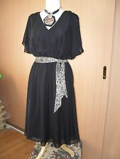 Maggie T - dress-black evening chiffon size 20 RRP $169.00 see tags