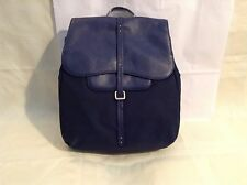Gift Boxed Radley Grosvenor Backpack In Navy Leather Nylon Mix RRP £189.00